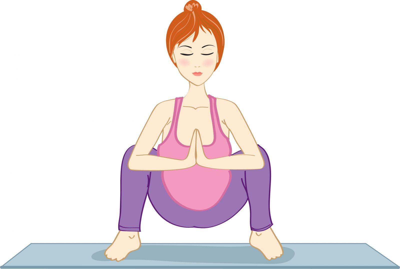 Йога с картинками для беременных
